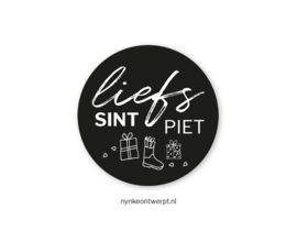 Sticker | Liefs sint en piet | 10 stuks