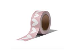 Washi tape | Hartjes roze