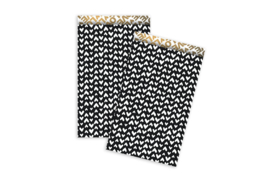 Kadozakjes hartjes zwart/wit  | M | 5 stuks