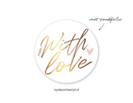 Sticker | Made with love | 10 stuks