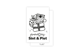 Mini-kaart | Groetjes Sint & Piet