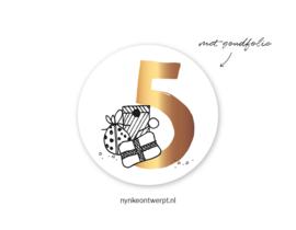 Sticker | 5 december | 10 stuks
