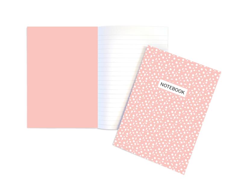 A5 Schrift | Dots roze