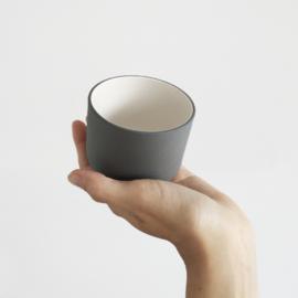 Mok 130 ml | cappuccino | donkergrijs