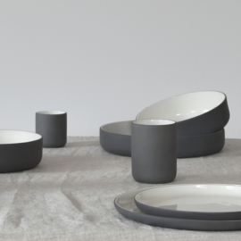 B-CHOISE | Dinner set | dark grey (4 x 3 items)