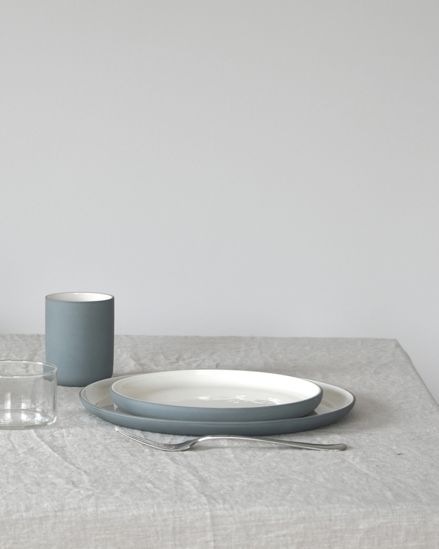 Dinner set | teal (6 x 2 items)