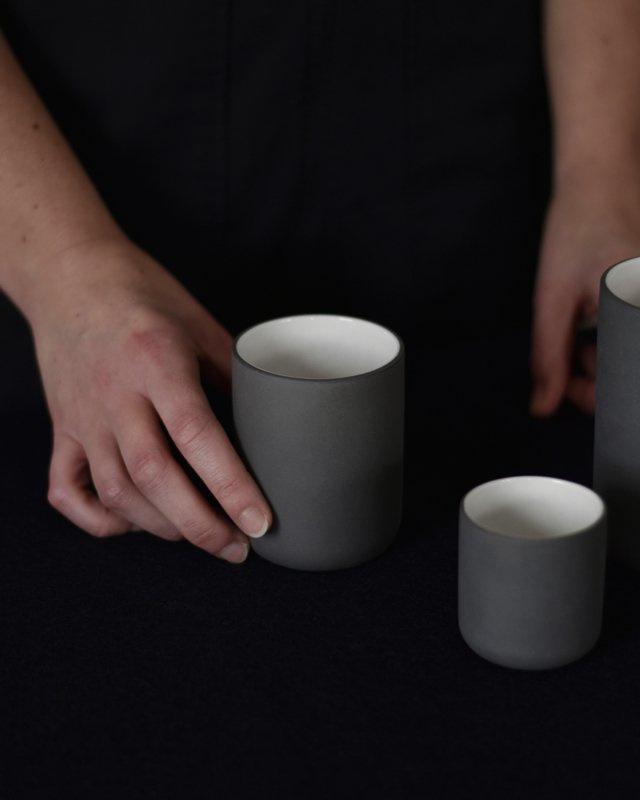 Set van 2 espressokoppen | donkergrijs