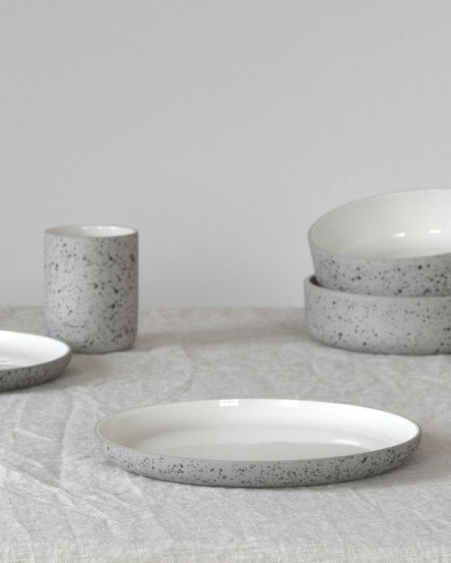 Bord Ø 20 cm | speckled