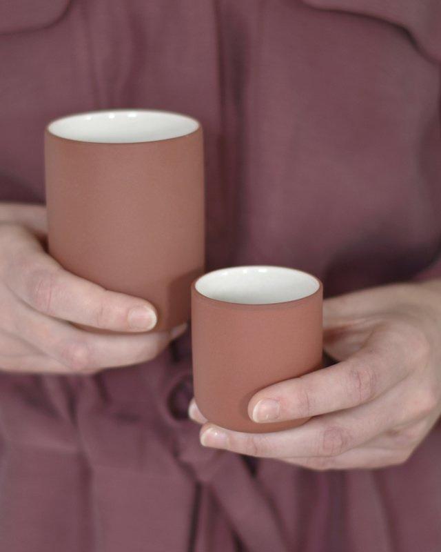 Set van 2 espressokoppen | terracotta