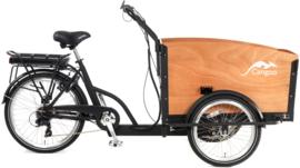Popal Cangoo Groovy Elektrisch Bakfiets 24 inch - Mat Zwart Naturel