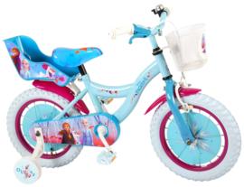 Volare Disney Frozen 2 Kinderfiets - Meisjes - 14 inch - Blauw/ paars