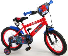 Volare Ultimate Spider Man Kinderfiets - Jongens - 16 inch - Zwart/rood