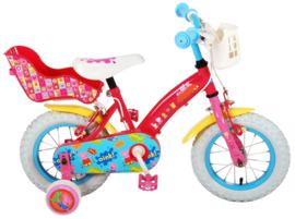 Volare Peppa Pig Kinderfiets - Meisjes - 12 inch - Roze - Twee handremmen