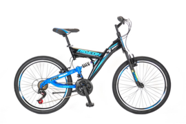 UMIT RIDE ON 24 INCH MTB BLACK - BLUE