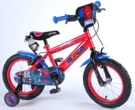 Volare Ultimate Spider Man Kinderfiets - Jongens - 14 inch - Zwart/ blauw/rood - Twee handremmen