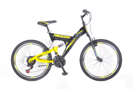 UMIT RIDE ON 24 INCH MTB BLACK - YELLOW