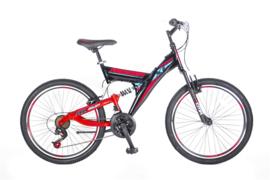 Altec Umit ride on 24 inch mtb black- red