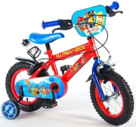 Volare Paw Patrol Kinderfiets - Jongens - 12 inch - Rood/blauw - Twee handremmen