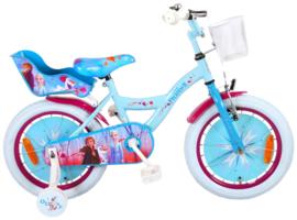Volare Disney Frozen 2 - Kinderfiets - Meisjes - 16 inch - Blauw / Paars