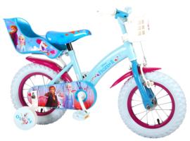 Volare Disney Frozen 2 Kinderfiets - Meisjes - 12 inch - Paars/ blauw