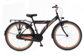 Popal Funjet X 26   Mat Zwart - Oranje