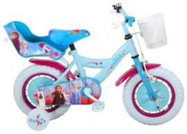 Volare Disney Frozen 2 Kinderfiets - Meisjes -12 inch - Blauw/paars