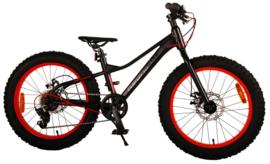 Volare Gradient Kinderfiets - Jongens - 20 inch - Zwart oranje rood - 6 speed