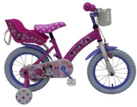 Volare Disney Minnie Kinderfiets - Meisjes - 14 inch - Roze