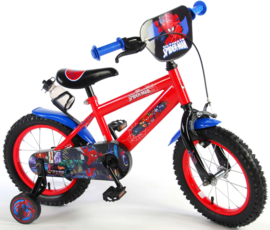Volare Ultimate Spider Man Kinderfiets - Jongens - 14 inch - Rood/ blauw