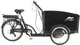 Popal Cangoo Groovy Elektrisch Bakfiets 24 inch - Mat Zwart Zwart