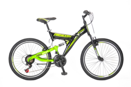 UMIT RIDE ON 24 INCH MTB BLACK - GREEN