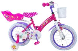 Volare Disney Minnie Bow Tique 14 inch Meisjesfiets - Roze