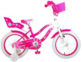 Volare Lovely Kinderfiets - Meisjes - 16 inch - Roze/ wit