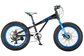 FAT BIKE ALLROUND 20INCH 2D ZWART - BLAUW