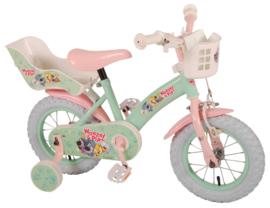 Volare Woezel & Pip Kinderfiets - Meisjes - 12 inch - Mint/ roze