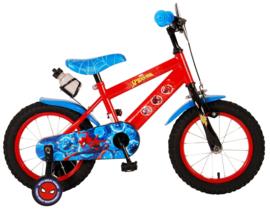 Volare Ultimate Spider Man Kinderfiets - Jongens - 14 inch - Blauw/ rood