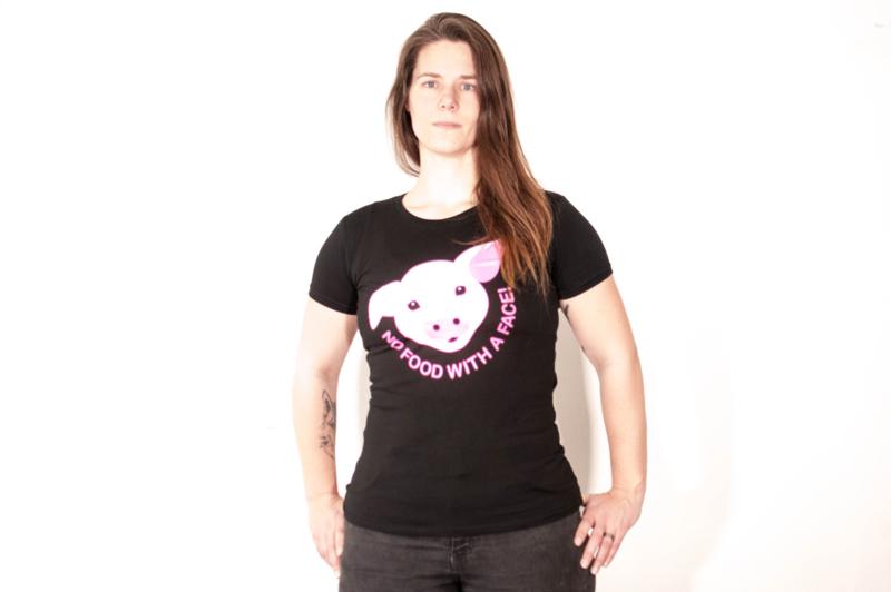 No Food With a Face T-shirt Dames varken