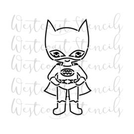 Kid batman PYO cookie stencil