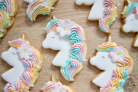 Unicorn Kaley cookie cutter & hulp stencil