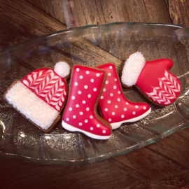 Winter kleding cookie cutter set