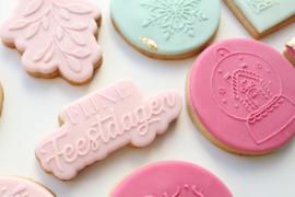 Kerst-  fijne feestdagen & cookie cutter