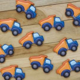 Kiepwagen cookie cutter & hulp stencil