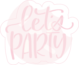 Let's Party cutter & stencil set