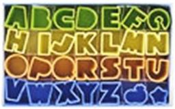 Alfabet kunststof 28 delig koek-it