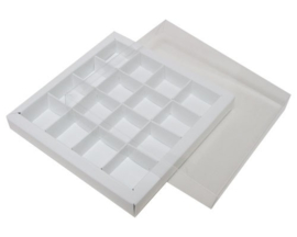 Bonbon doosje wit 16 stuks