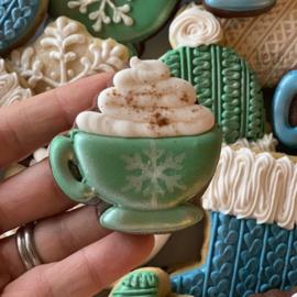 Koffie kop met toef cookie cutter