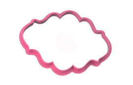Plaque stylish -B- cookie cutter