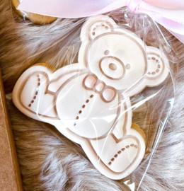 Teddy Beer # & cookie cutter - 2 delig