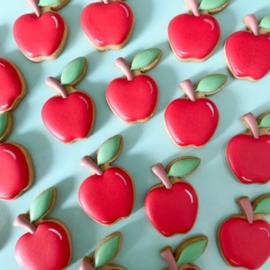 Appel met blaadje koek-it