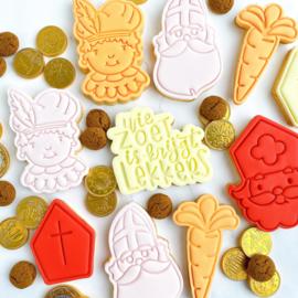 Wie zoet is... cookie stempel & cookie cutter 2 delig